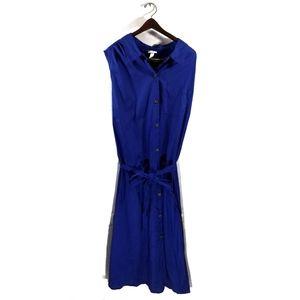 Ava & Viv Sleeveless Button Cotton Dress NWT